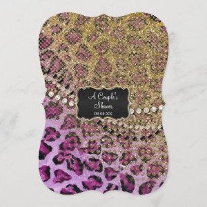 Couples Shower Purple Gold Leopard Animal Print starting at 3.23