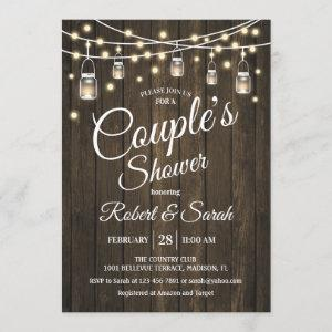 Couple's Shower - Rustic Wood Invitation starting at 2.35