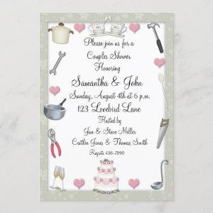 Couples Shower Sage Green Invitation starting at 2.85