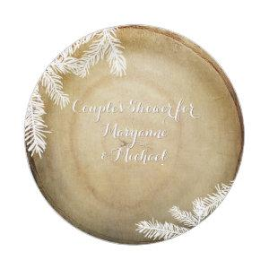 Couples Shower Woodland Forest Center Cut Tree Paper Plate starting at 1.70
