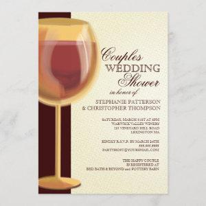 Couples Wedding Shower Aged Wine Themed Invitation starting at 2.56