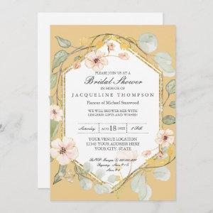 Couples Wedding Shower Fall Floral Rose Watercolor Invitation starting at 2.66
