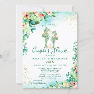 Couples Wedding Shower Tropical Floral Seahorses Invitation starting at 2.40