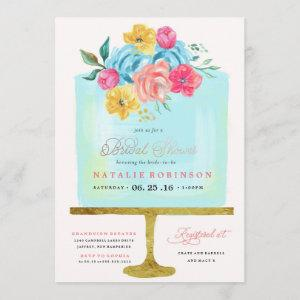 Couture Cake Bridal Shower Invitation - blue starting at 2.51