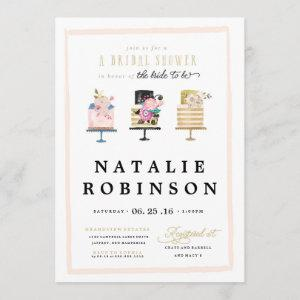 Couture Cake Bridal Shower Invitation - gold starting at 2.51