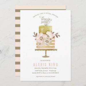 Couture Cake Gold Bridal Shower Invitation starting at 2.51