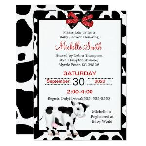 Cow Print Baby Shower Invitations starting at 2.66