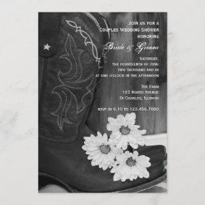 Cowboy Boots and Daisies Couples Wedding Shower Invitation starting at 2.60