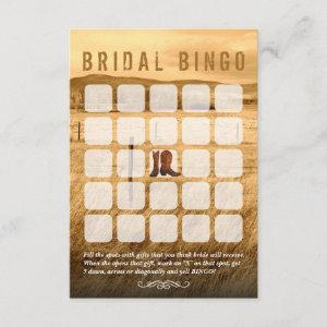 Cowboy Boots Country Bridal Shower Bingo Cards starting at 2.21