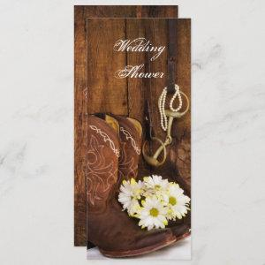 Cowboy Boots Daisies Horse Bit Wedding Shower Invitation starting at 2.70