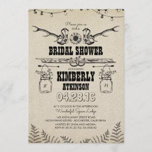 Cowboy Boots Rustic Country Bridal Shower Invitation starting at 2.51