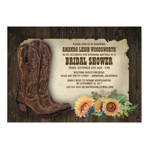 Cowboy Boots Sunflower Bridal Shower Invitations starting at 2.00