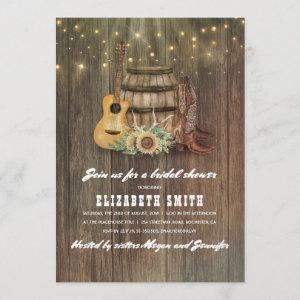 Cowboy Boots Wine Barrel Country Bridal Shower Invitation starting at 2.51