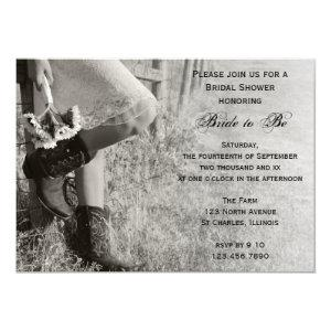 Cowgirl and Sunflowers Country Ranch Bridal Shower Invitation starting at 2.60