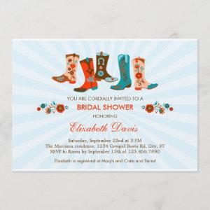 Cowgirl Boots Bridal Shower Invitation starting at 2.61
