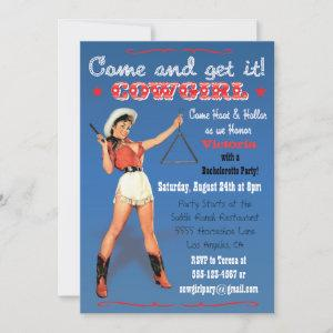 Cowgirl Western Bachelorette / Bridal Party Invite starting at 2.56