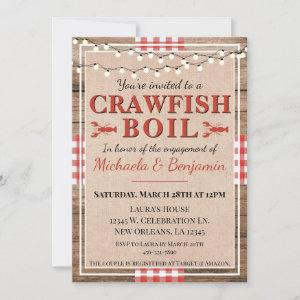 Crawfish Boil Lobster Engagement Party Rustic Invitation starting at 2.40