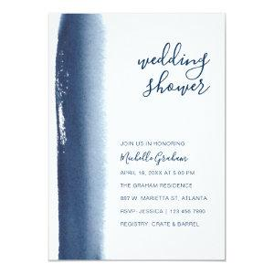 Creative Navy Blue Watercolor Couples Shower Invitation starting at 2.51