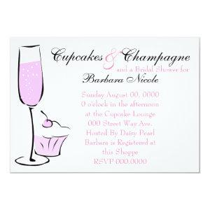 Cupcake and Champage Invitation starting at 2.82