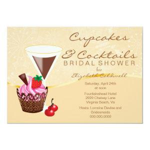 Cupcakes & Cocktails Bridal Shower Invitation starting at 2.66