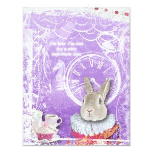 Cute Alice in Wonderland Bridal Shower Collage Invitation starting at 2.31
