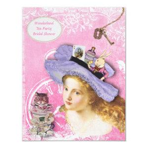 Cute Alice in Wonderland Collage Bridal Shower Invitation starting at 2.31