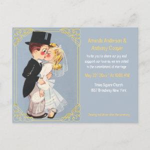 Cute and funny cartoon wedding template starting at 1.80