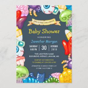 Cute Baby Shower Halloween Monsters Theme Invitation starting at 2.30
