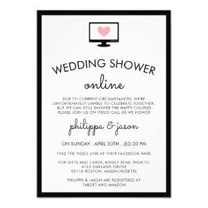 Cute Computer Virtual Couple's Wedding Shower Invitation starting at 2.40