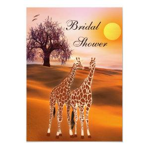 Cute Giraffe Bridal Shower Invitation starting at 2.66