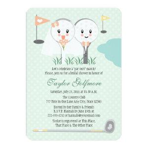 Cute Golf Ball and Tee Bride Groom Bridal Shower Invitation starting at 2.86