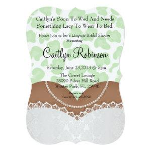 Cute Lace Bra Lingerie Bridal Shower Invitation starting at 3.07