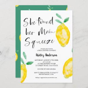 Cute lemon watercolor summer squeeze bridal shower invitation starting at 2.40
