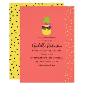 Cute quirky exotic tropical Beach Bridal Shower Invitation starting at 2.55