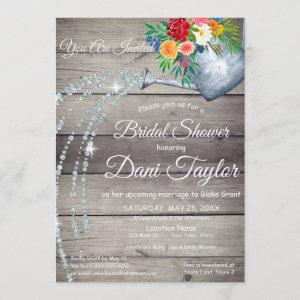 Cute Rustic Watering Can Floral Bridal Shower Invitation starting at 2.55