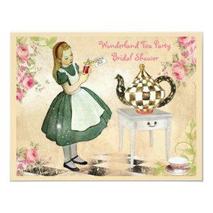 Cute Vintage Alice in Wonderland Bridal Shower Invitation starting at 2.31