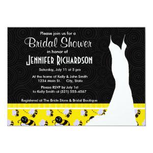 Cute Yellow & Black Bee Invitation starting at 2.71