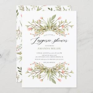 Dainty Pink Floral Greenery Bridal Lingerie Shower starting at 2.40