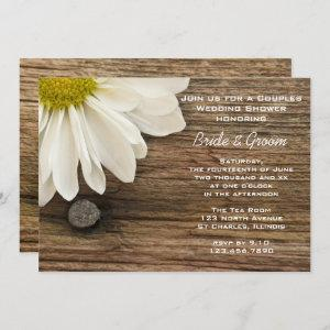 Daisy and Barn Wood Country Couples Wedding Shower Invitation starting at 2.60