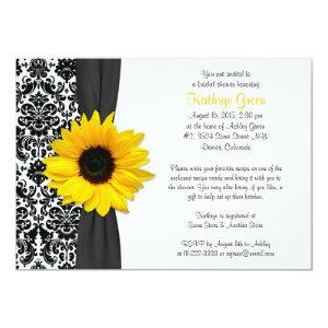 Damask Yellow Sunflower Recipe Bridal Shower Invitation starting at 2.66