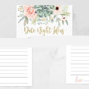 Date night ideas bridal shower game invitation starting at 2.35