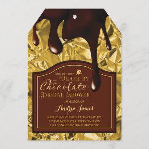 Death by Chocolate Gold Bridal Shower Invitation starting at 2.91