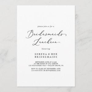 Delicate Black Calligraphy Bridesmaids Luncheon Invitation starting at 2.51