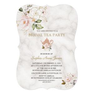 Delicate Blush Gold Floral Bridal Shower Tea Party Invitation starting at 2.80