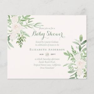 Delicate Floral Themed Baby Shower Invites BUDGET starting at 0.61