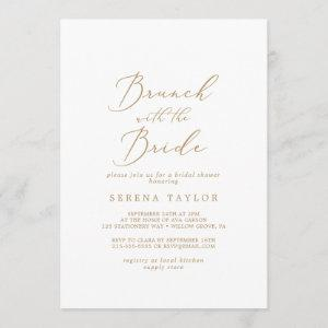 Delicate Gold Brunch with the Bride Bridal Shower Invitation starting at 2.51