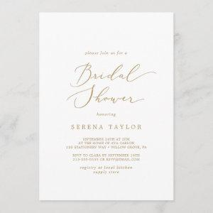 Delicate Gold Calligraphy Bridal Shower Invitation starting at 2.51