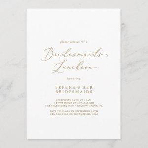 Delicate Gold Calligraphy Bridesmaids Luncheon Invitation starting at 2.51