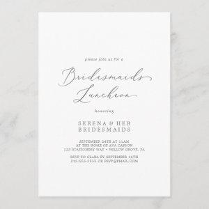 Delicate Silver Calligraphy Bridesmaids Luncheon Invitation starting at 2.51