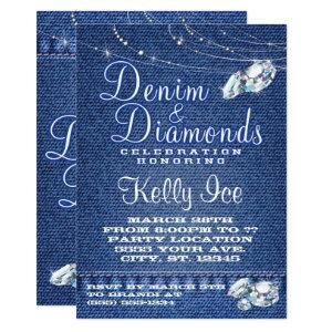 Denim and Diamonds Party Invitations starting at 2.36